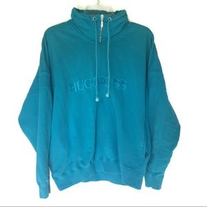Hugo Boss Vintage Blue Spell Out Zip Sweatshirt M